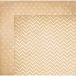 Bo Bunny - Double Dot Designs Collection - 12 x 12 Double Sided Paper - Chevron - Chiffon