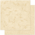 Bo Bunny - Double Dot Designs Collection - 12 x 12 Double Sided Paper - Flourish - Chiffon