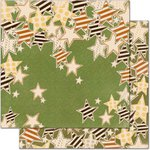 Bo Bunny - Camp-A-Lot Collection - 12 x 12 Double Sided Paper - Falling Stars