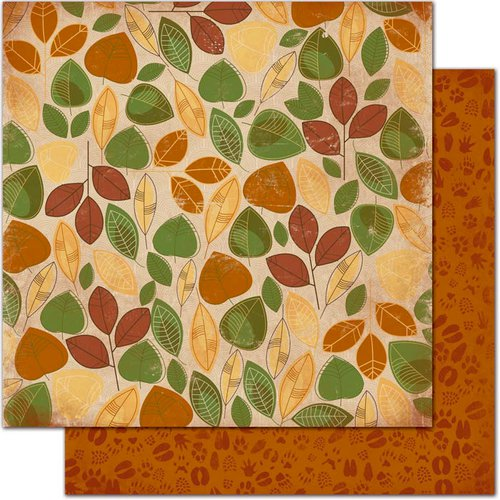 Bo Bunny Press - Camp-A-Lot Collection - 12 x 12 Double Sided Paper - Leaves