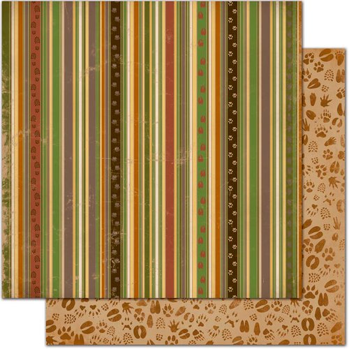 Bo Bunny - Camp-A-Lot Collection - 12 x 12 Double Sided Paper - Stripe