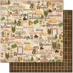 Bo Bunny - Camp-A-Lot Collection - 12 x 12 Double Sided Paper - In The Woods