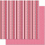 Bo Bunny Press - Crush Collection - Valentine - 12 x 12 Double Sided Paper - Crush Stripe