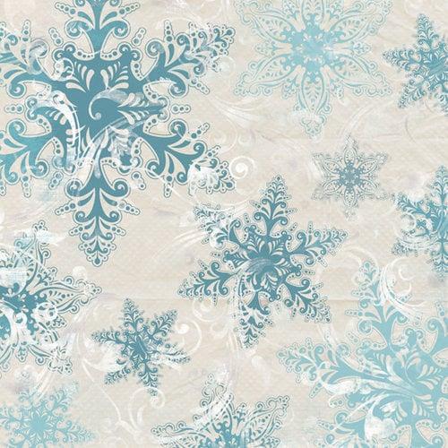 Bo Bunny Press - Snowy Serenade Collection - 12 x 12 Glittered Paper - Snowy Serenade Crystals, BRAND NEW