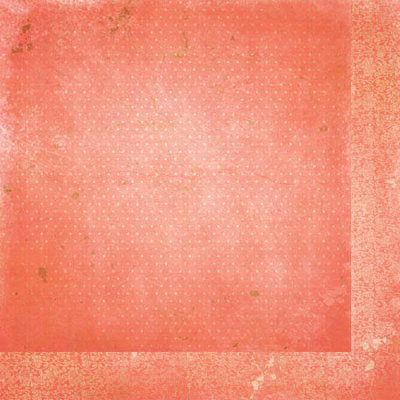 Bo Bunny - Double Dot Designs Collection - 12 x 12 Double Sided Paper - Vintage - Coral