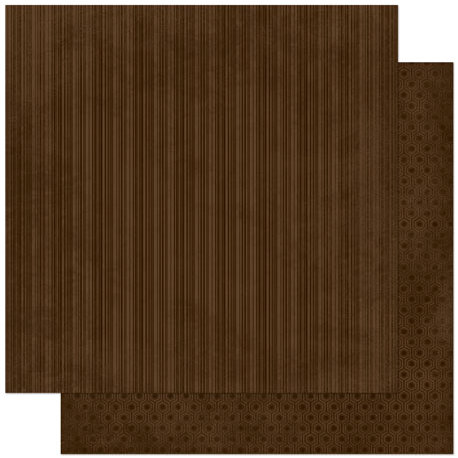 Bo Bunny Press - Double Dot Designs Collection - 12 x 12 Double Sided Paper - Stripe - Coffee