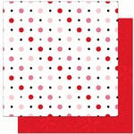 Bo Bunny Press - Crush Collection - Valentine - 12 x 12 Double Sided Paper - Crush Dot