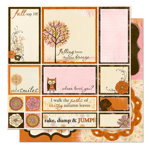 Bo Bunny Press - Delilah Collection - 12 x 12 Double Sided Paper - Delilah Cut Outs
