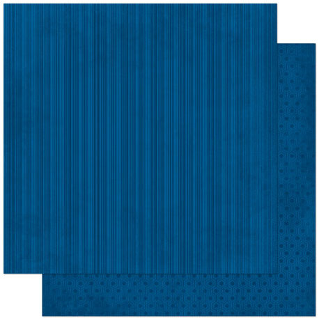 Bo Bunny - Double Dot Designs Collection - 12 x 12 Double Sided Paper - Stripe - Dark Denim