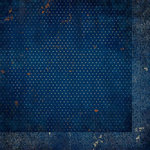 Bo Bunny - Double Dot Designs Collection - 12 x 12 Double Sided Paper - Vintage - Dark Denim