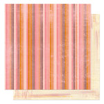 Bo Bunny Press - Delilah Collection - 12 x 12 Double Sided Paper - Delilah Stripe, CLEARANCE