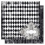 Bo Bunny Press - Enchanted Collection - 12 x 12 Double Sided Paper - Harlequin
