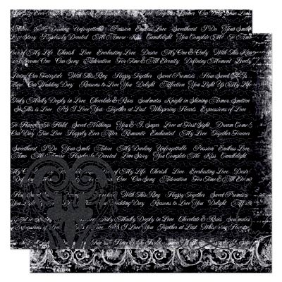 Bo Bunny - Enchanted Collection - 12 x 12 Double Sided Paper - Whispers