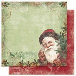 Bo Bunny - Father Christmas Collection - 12 x 12 Double Sided Paper - Father Christmas