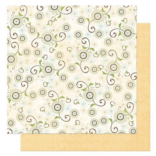 Bo Bunny Press - Flutter Butter Collection - 12 x 12 Double Sided Paper - Flutter Butter Breeze