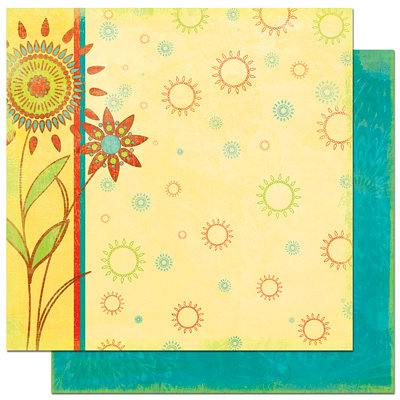 Bo Bunny Press - Flower Child Collection - 12 x 12 Double Sided Paper - Flower Child Harmony