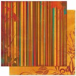 Bo Bunny - Forever Fall Collection - 12 x 12 Double Sided Paper - Stripe