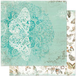 Bo Bunny - Gabrielle Collection - 12 x 12 Double Sided Paper - Elegance