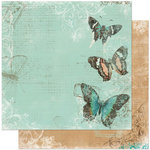 Bo Bunny Press - Gabrielle Collection - 12 x 12 Double Sided Paper - Flight