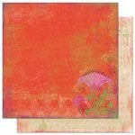 Bo Bunny Press - Garden Girl Collection - 12 x 12 Double Sided Paper - Poppy