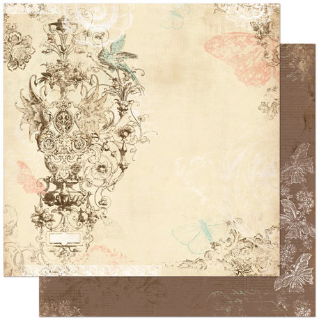 Bo Bunny Press - Gabrielle Collection - 12 x 12 Double Sided Paper - Romance