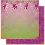 Bo Bunny Press - Garden Girl Collection - 12 x 12 Double Sided Paper - Wisteria