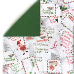 Bo Bunny Press - Holiday Magic Collection - Christmas - 12x12 Double Sided Shimmer Paper - Holiday Magic Letters