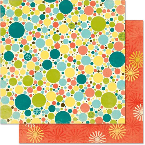 Bo Bunny - Hello Sunshine Collection - 12 x 12 Double Sided Paper - Dot