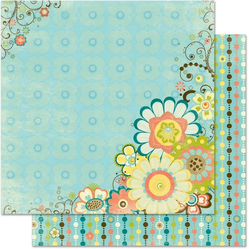 Bo Bunny Press - Hello Sunshine Collection - 12 x 12 Double Sided Paper - Breezy