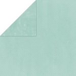 Bo Bunny Press - Double Dot Paper - 12 x 12 Double Sided Paper - Island Mist Dot