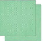 Bo Bunny - Double Dot Designs - 12 x 12 Double Sided Paper - Jade