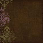 Bo Bunny Press - Jazmyne Collection - 12 x 12 Glittered Paper - Jazmyne Flower Box