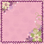 Bo Bunny Press - Jazmyne Collection - 12 x 12 Glittered Paper - Jazmyne Noteworthy