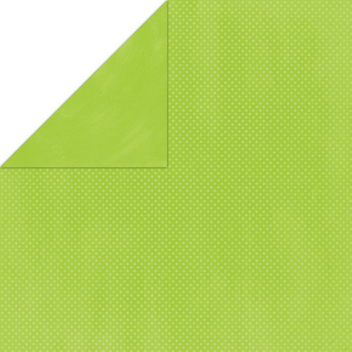 Bo Bunny Press - Double Dot Paper - 12 x 12 Double Sided Paper - Kiwi Dot