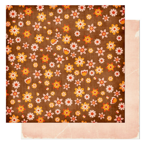Bo Bunny Press - Kitchen Spice Collection - 12 x 12 Double Sided Paper - Kitchen Spice Ginger, CLEARANCE