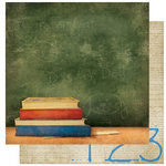 Bo Bunny Press - Learning Curve Collection - 12 x 12 Double Sided Paper - Learning Curve