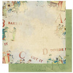 Bo Bunny Press - Learning Curve Collection - 12 x 12 Double Sided Paper - Learning Curve Apple Pie