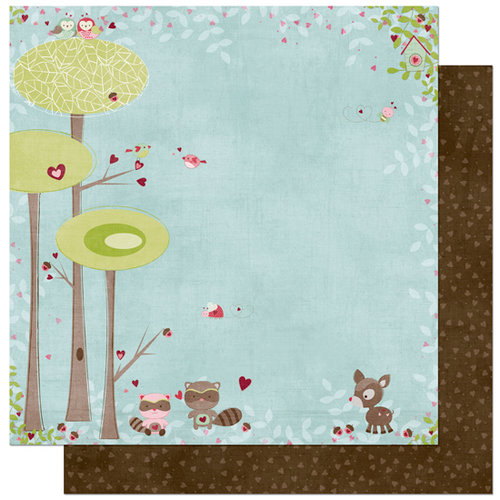 Bo Bunny Press - Love Bandit Collection - 12 x 12 Double Sided Paper - Love Bandit