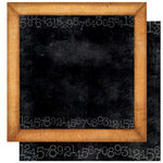 Bo Bunny Press - Learning Curve Collection - 12 x 12 Double Sided Paper - Learning Curve Blackboard