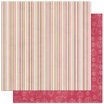Bo Bunny Press - Love Bandit Collection - 12 x 12 Double Sided Paper - Love Bandit Stripe