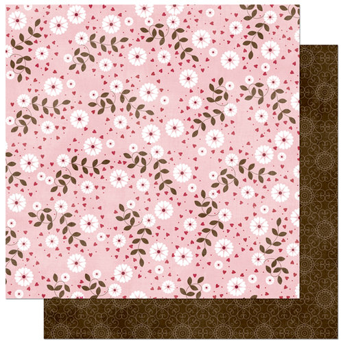 Bo Bunny Press - Love Bandit Collection - 12 x 12 Double Sided Paper - Love Bandit Tweetheart