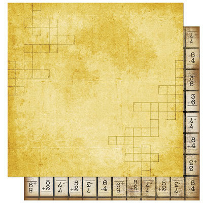 Bo Bunny Press - Learning Curve Collection - 12 x 12 Double Sided Paper - Learning Curve Crossword