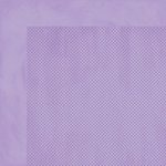 Bo Bunny - Double Dot Designs - 12 x 12 Double Sided Paper - Lavender Dot