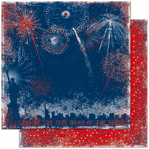 Bo Bunny Press - Liberty Collection - 12 x 12 Double Sided Paper - Fireworks