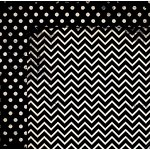 Bo Bunny - Double Dot Designs Collection - 12 x 12 Double Sided Paper - Chevron - Licorice