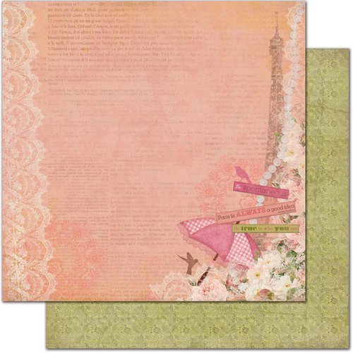 Bo Bunny - Little Miss Collection - 12 x 12 Double Sided Paper - Allie