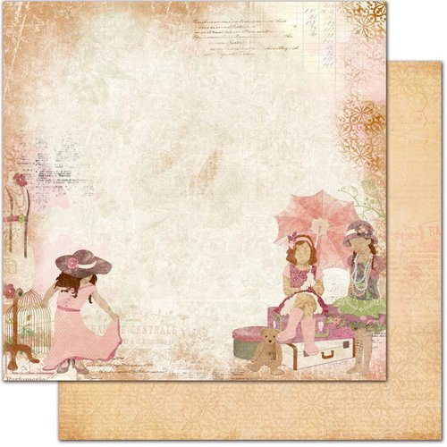 Bo Bunny - Little Miss Collection - 12 x 12 Double Sided Paper - Gracie