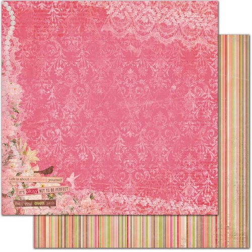 Bo Bunny - Little Miss Collection - 12 x 12 Double Sided Paper - Jamayka