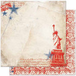 Bo Bunny Press - Liberty Collection - 12 x 12 Double Sided Paper - One Nation