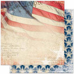 Bo Bunny Press - Liberty Collection - 12 x 12 Double Sided Paper - Old Glory